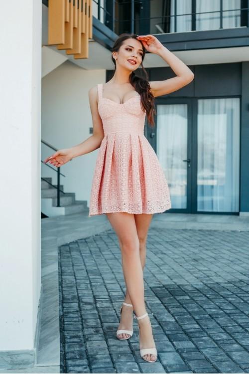 Платье 3459 пудра