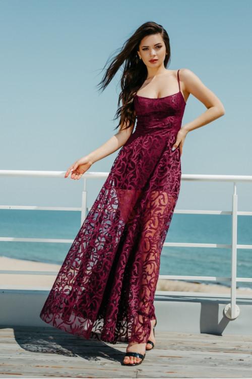 Платье 3414 марсал