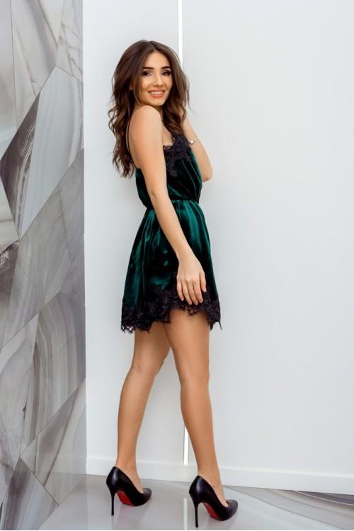 Платье 3445 бутылочный