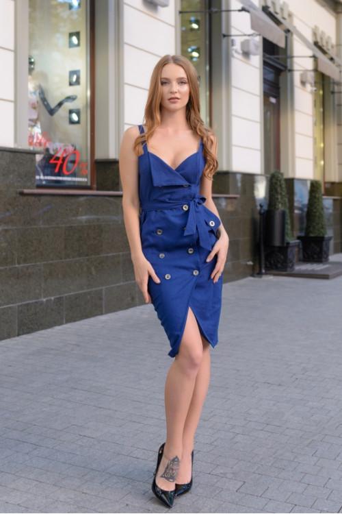 Платье 3422 синий