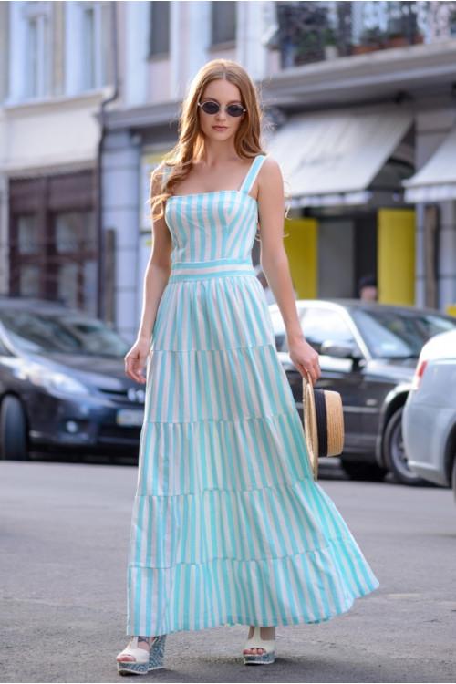 Платье 3379 голубой