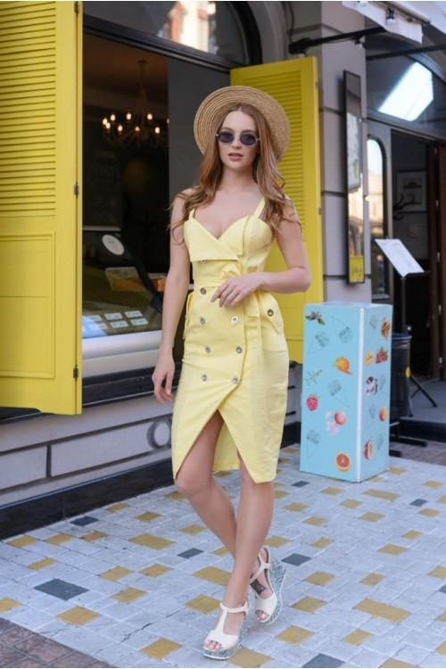 Платье 3422 желтый