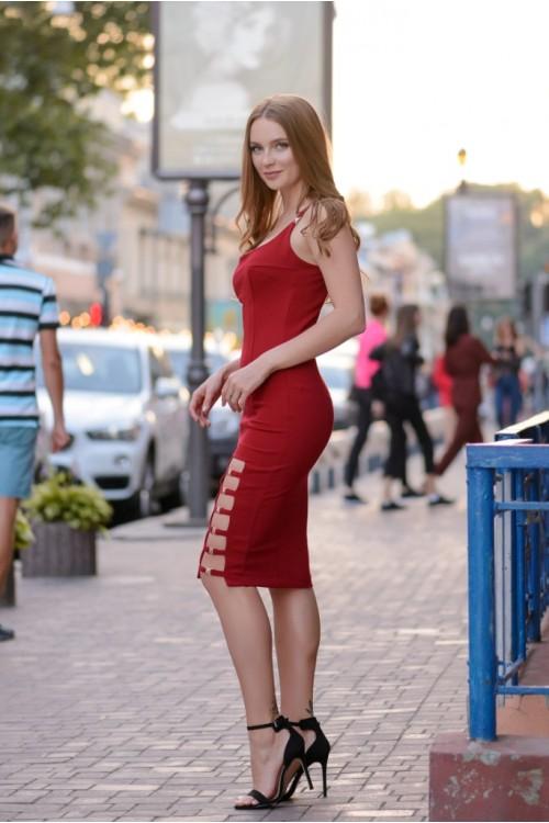 Платье 3423 марсал