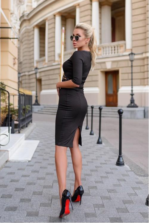 Платье 3410 коричневый