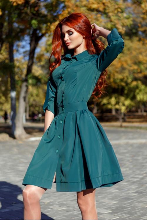 Платье 3356 бутылочный
