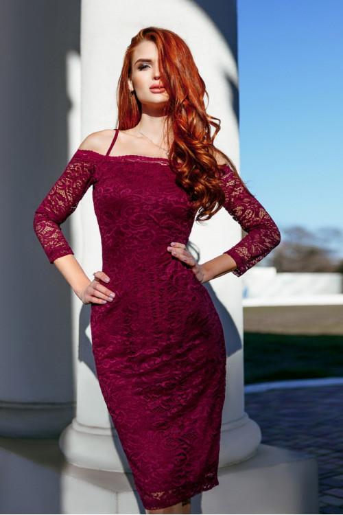 Платье 3327 марсал