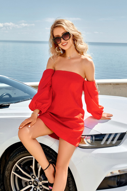 Платье 3563 красный