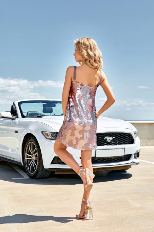 Платье 3499 лиловый