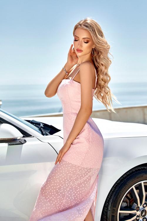 Платье 3566 пудра