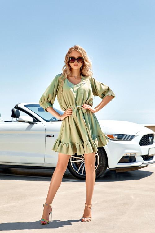 Платье 3558 оливковый