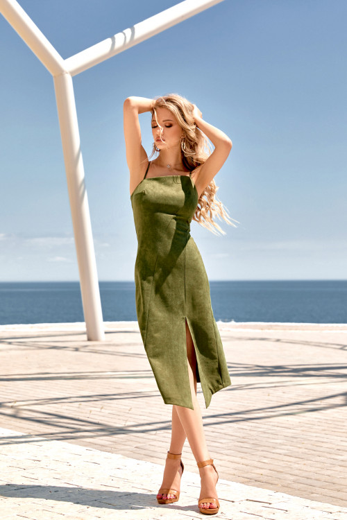 Платье 3472 хаки