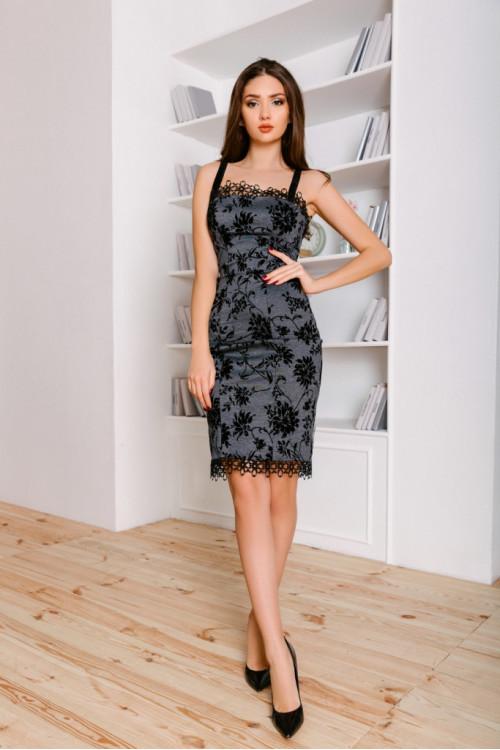 Платье 3451 серый