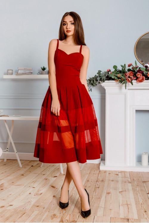 Платье 3309 марсал