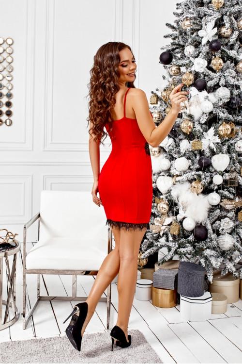 Платье 3476 красный