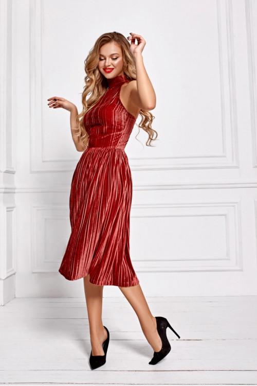 Платье 3402 кирпичный