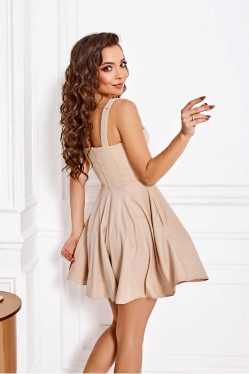 Платье 3497 бежевый