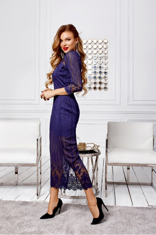 Платье 3494 синий