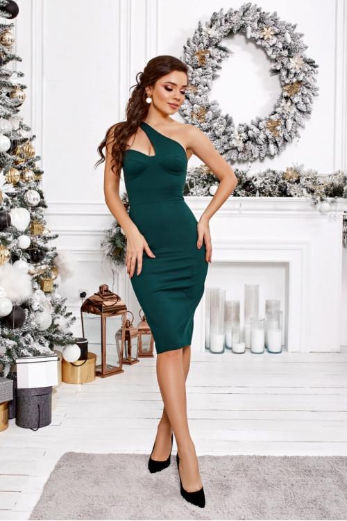 Платье 3468 бутылочный