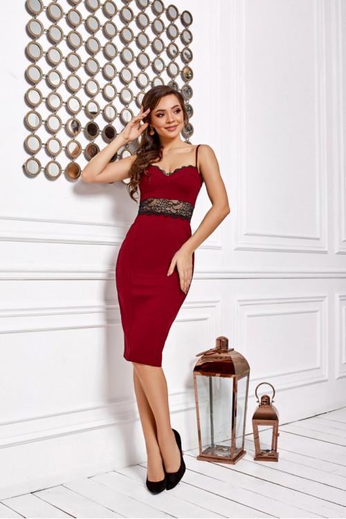 Платье 3466 марсал