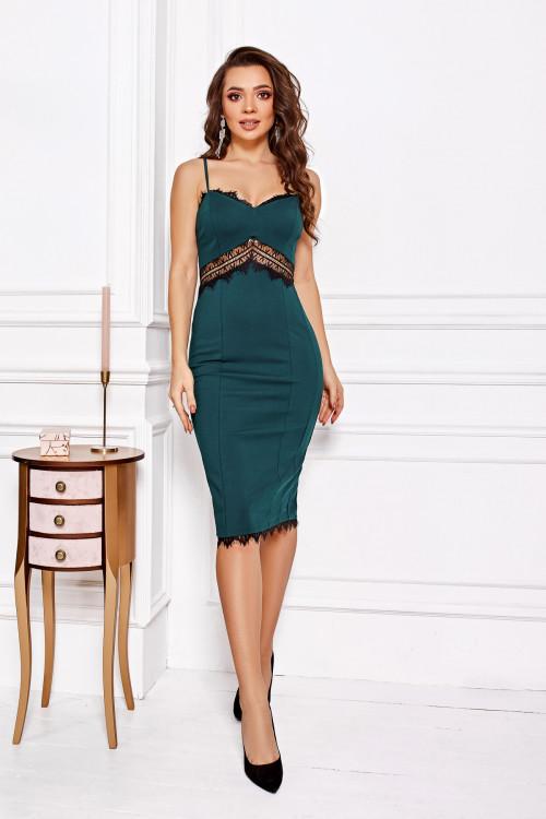 Платье 3489 бутылочный