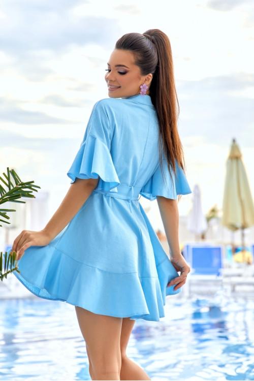 Платье 3510 голубой