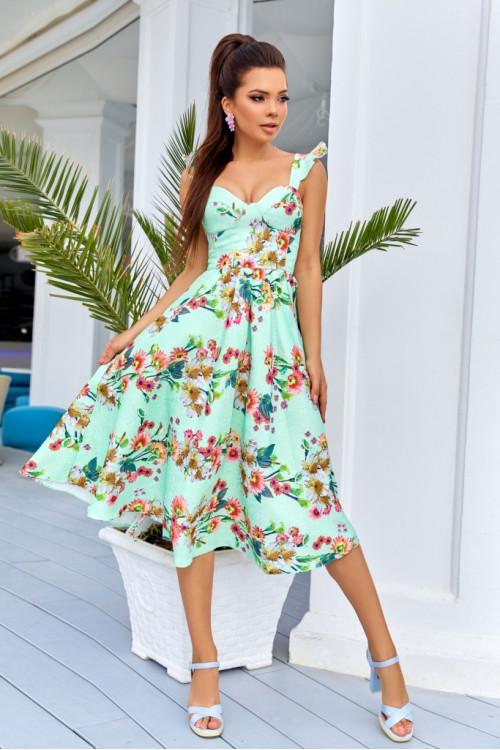 Платье 3520 салатовый
