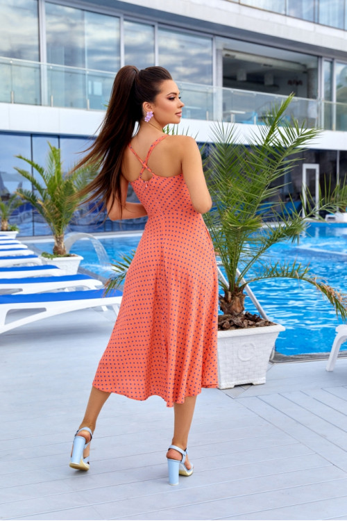 Платье 3526 персик