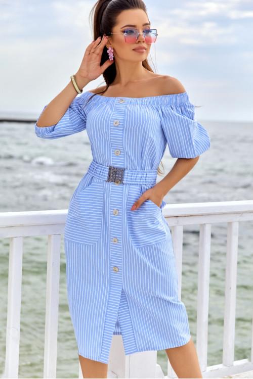 Платье 3428 голубой