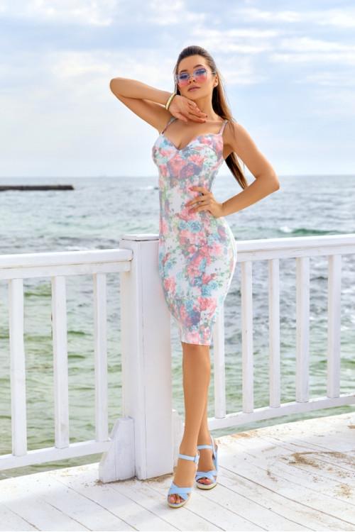 Платье 3417 розовый