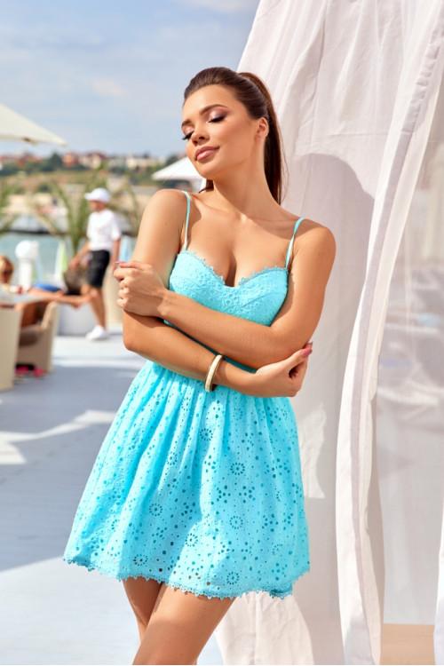 Платье 3518 бирюза