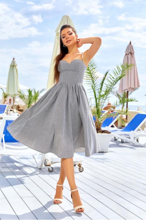 Платье 3427 серый