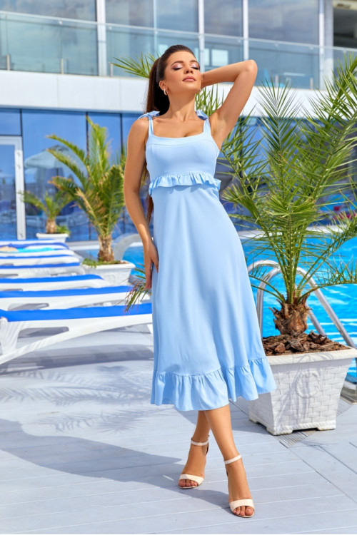 Платье 3527 голубой