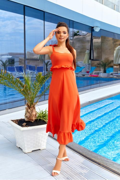 Платье 3527 оранжевый