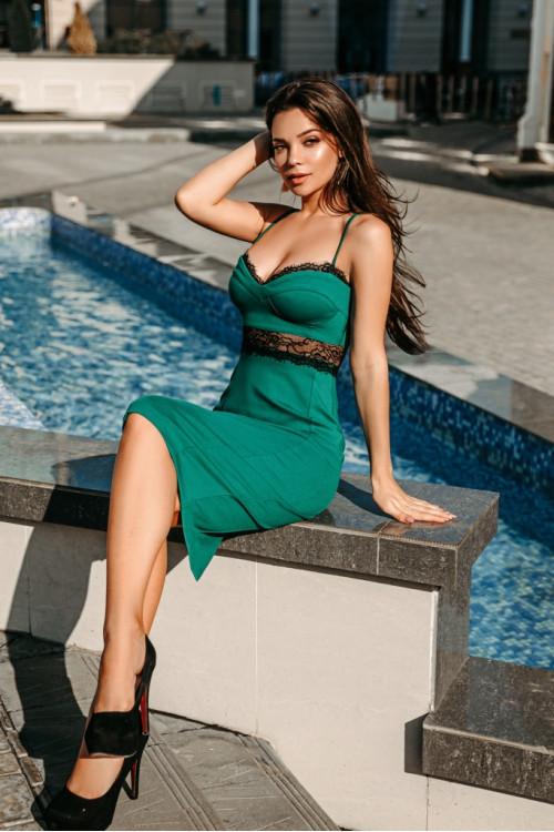 Платье 3466 зеленый