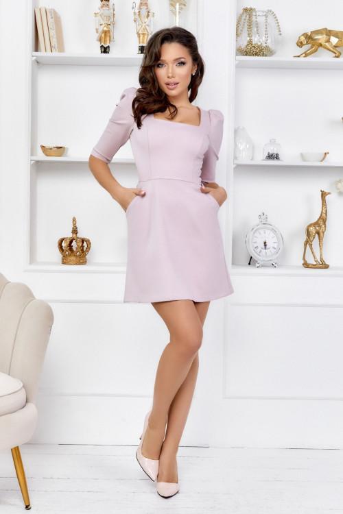 Платье 3554 пудра