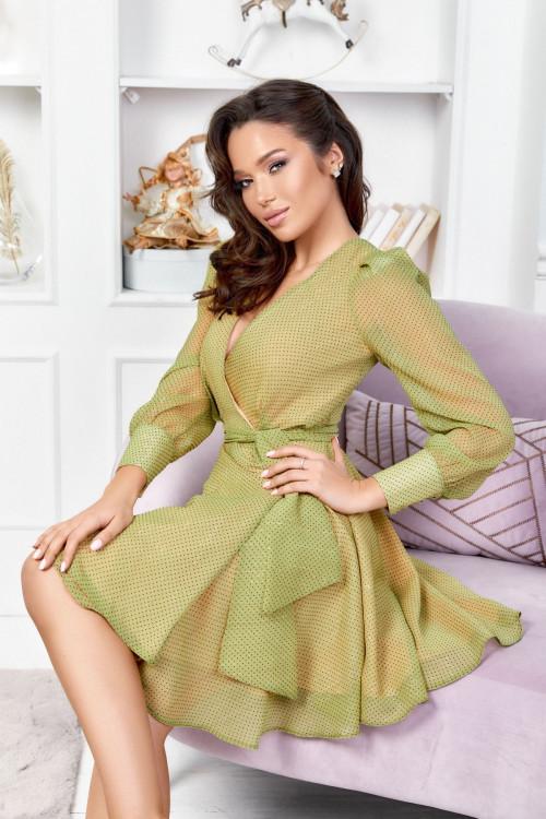 Платье 3501 оливковый