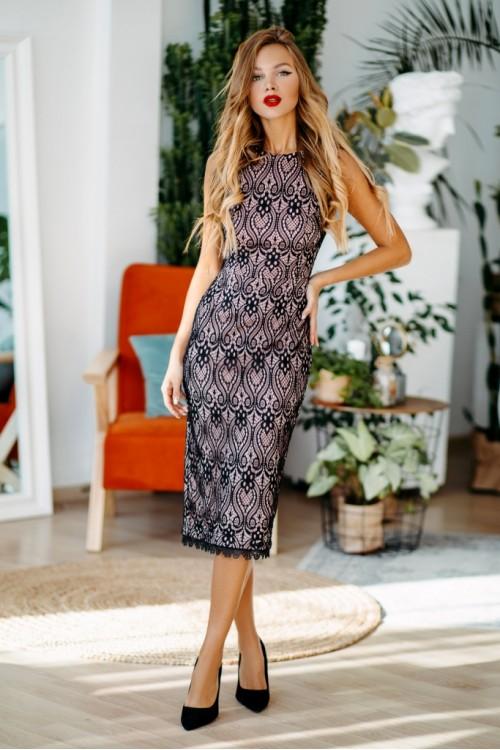 Платье 3475 пудра