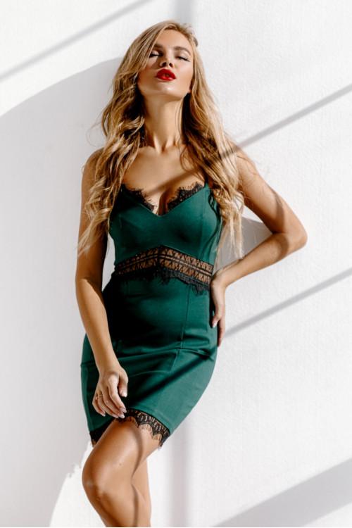 Платье 3476 бутылочный