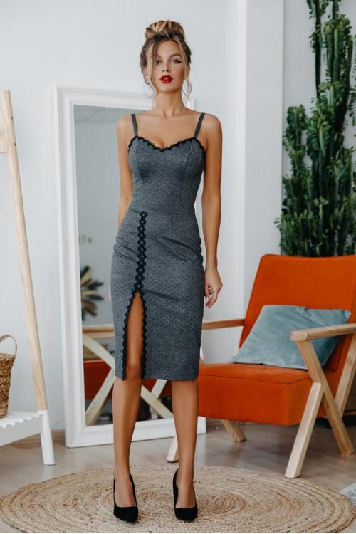 Платье 3444 серый