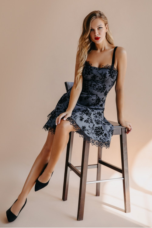 Платье 3452 серый