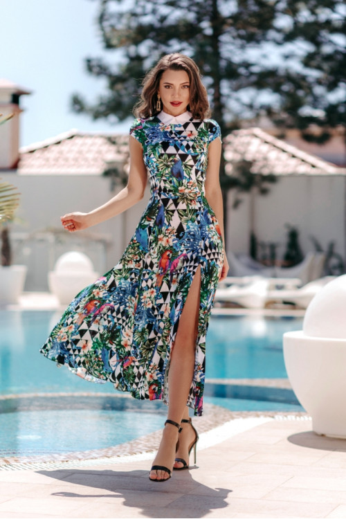 Платье 3505 синий