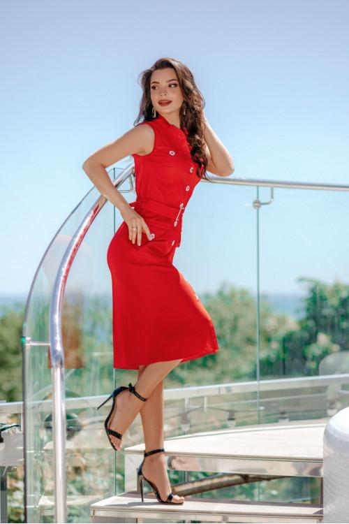 Платье 3506 красный