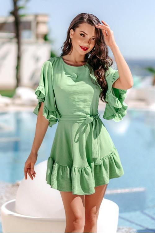 Платье 3504 салатовый
