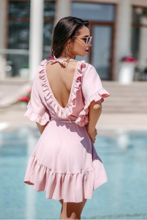 Платье 3504 пудра
