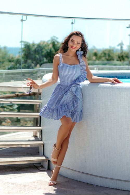 Платье 3513 голубой