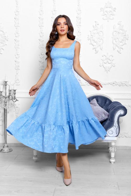 Платье 3530 голубой