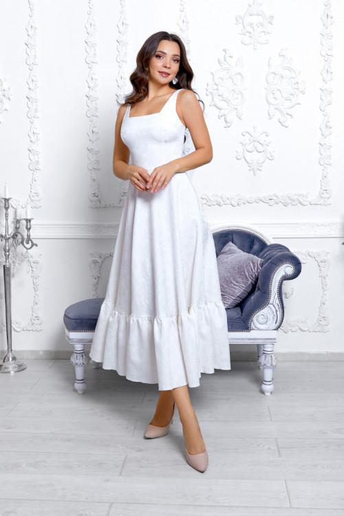 Платье 3530 молочный