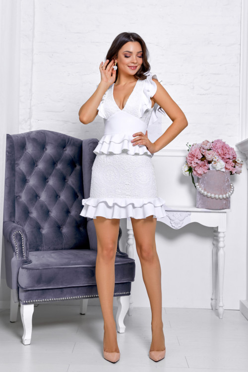 Платье 3537 молочный