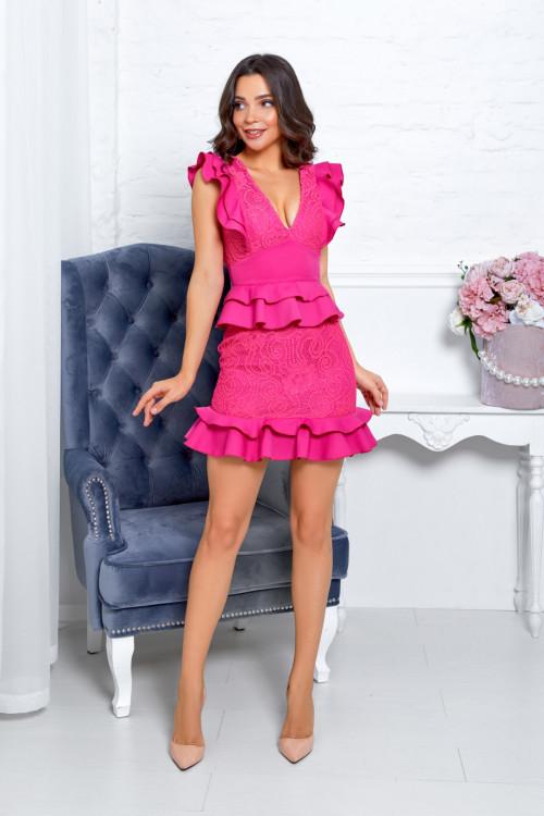 Платье 3537 малиновый