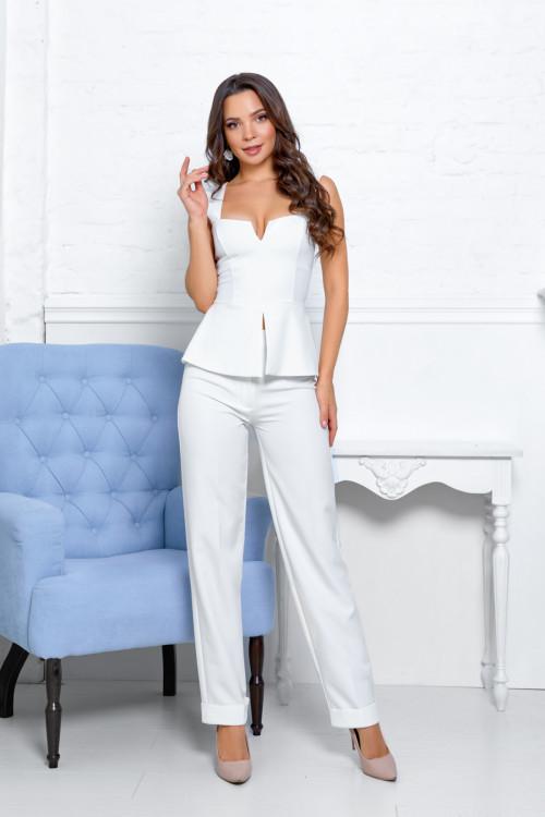 Блузки 2100 белый